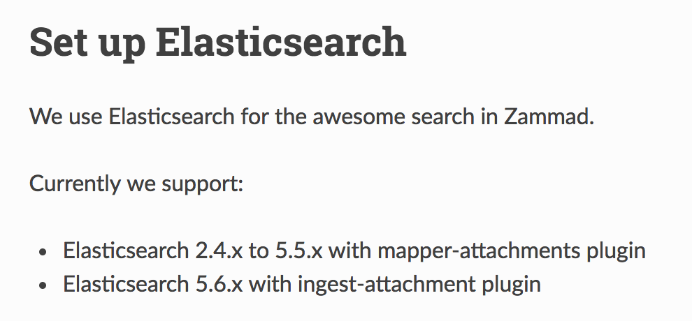 Upgrade elasticsearch to 6 x? - Technical assistance - Zammad